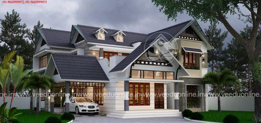 2560 square feet double floor contemporary home design - Home Design Kerala