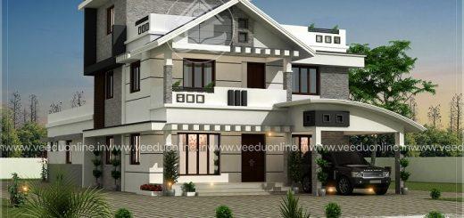3074 square feet double floor contemporary home design