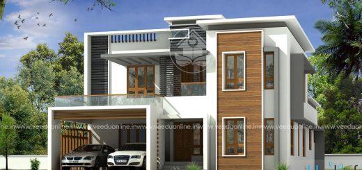 3200 square feet double floor contemporary home design - Home Design Kerala