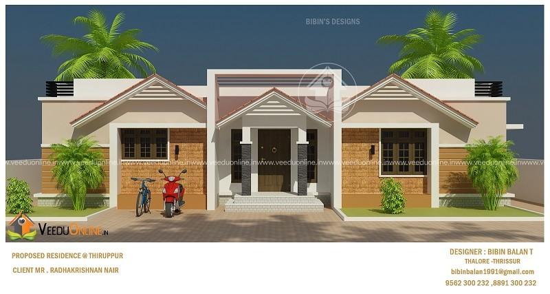 1075 Square Feet Single Floor Contemporary Home Design
