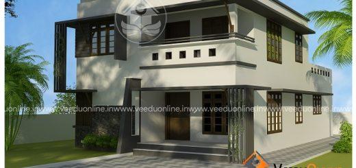 2098 square feet double floor contemporary home design - Home Design Kerala