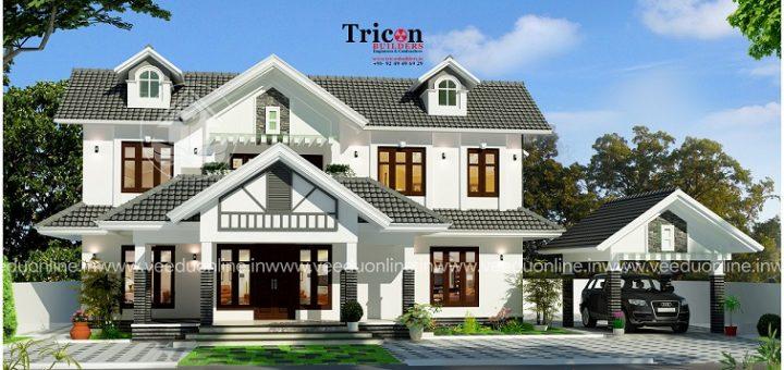 2483 square feet double floor contemporary home design - Home Design Kerala