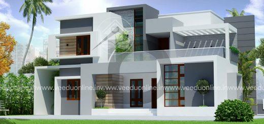 2500 Square Feet Double Floor 4 BHK Contemporary Home Design