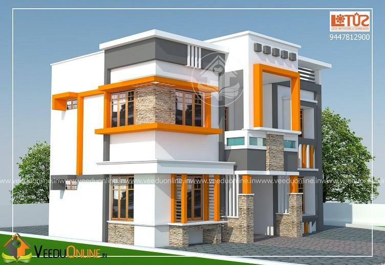 1532 Square Feet Double Floor Contemporary Home Design