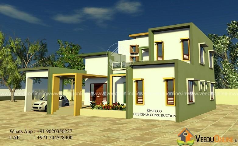 2100 Square Feet 4 BHK Contemporary Home Design