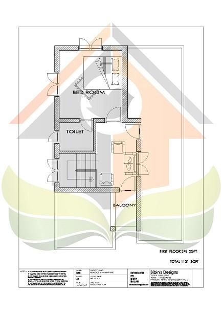 1131 Square Feet Double Floor Contemporary Home Design