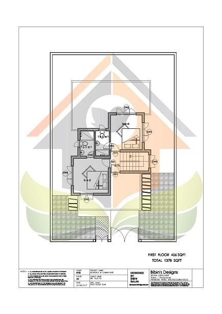 1378 Square Feet Double Floor Contemporary Home Design