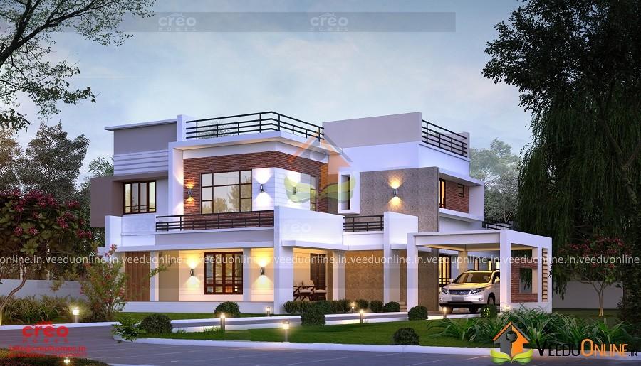 4203 Square Feet Double Floor Contemporary Home Design