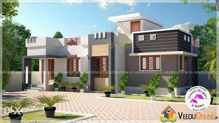 950 Square Feet Single Floor Contemporary Home Design