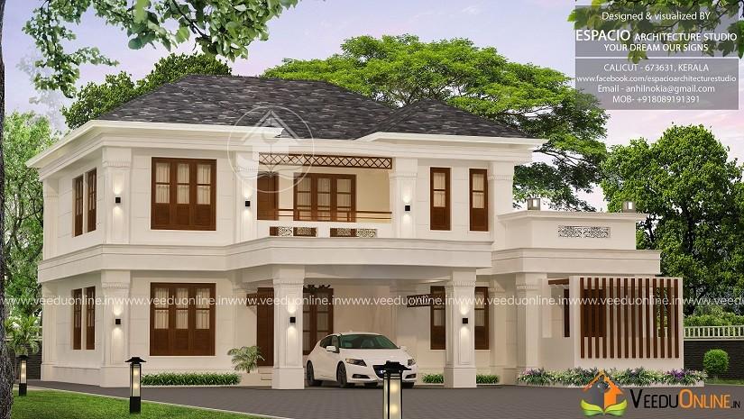2317 Square Feet Double Floor Contemporary Home Design