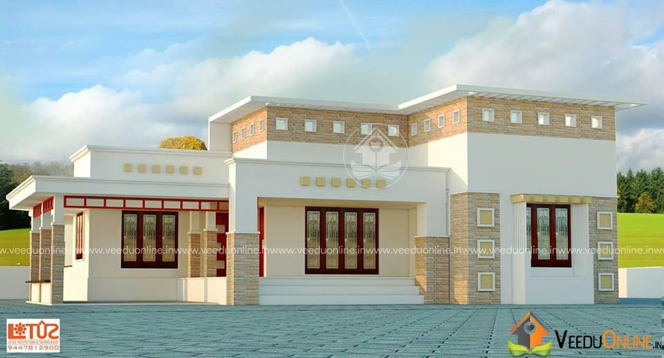 1200 Square Feet 3 BHK Contemporary Home Design