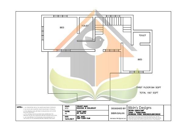 1567 Square Feet Double Floor Contemporary Home Design