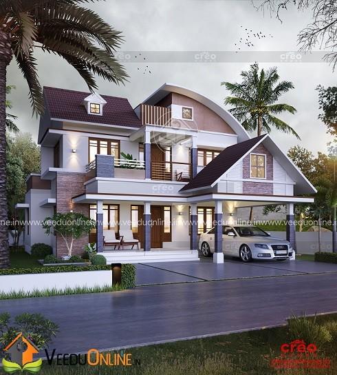 2702 Square Feet Double Floor Contemporary Home Design