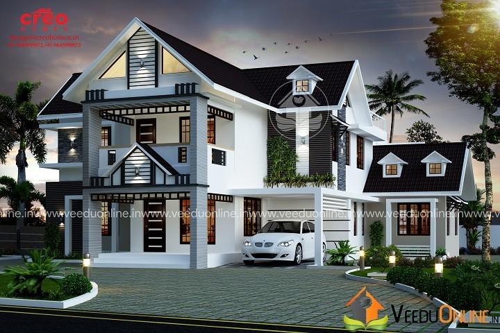 2745 Square Feet 4 BHK Contemporary Home Design