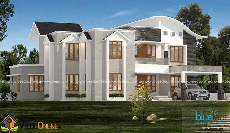 3772 Square Feet Double Floor Contemporary Home Design
