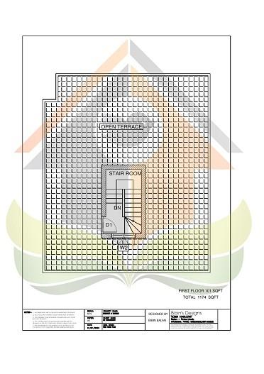 1174 Square Feet Single Floor Contemporary Home Design