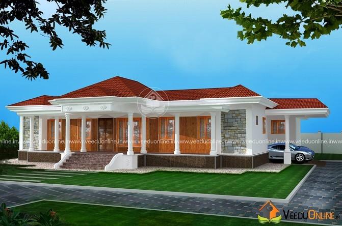 2444 Square Feet Single Floor Contemporary Home Design