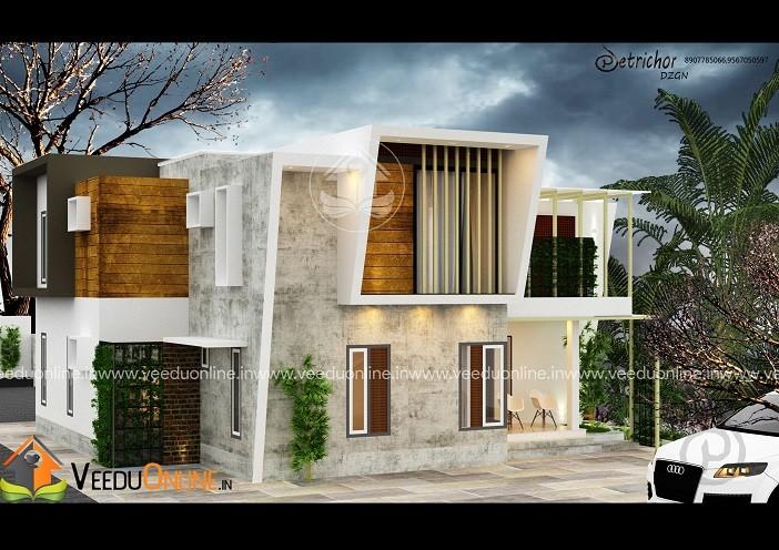 2510 Square Feet Double Floor Contemporary Home Design
