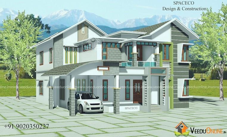 2603 Square Feet Double Floor Contemporary Home Design