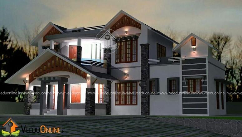 2711 Square Feet Double Floor Contemporary Home Design