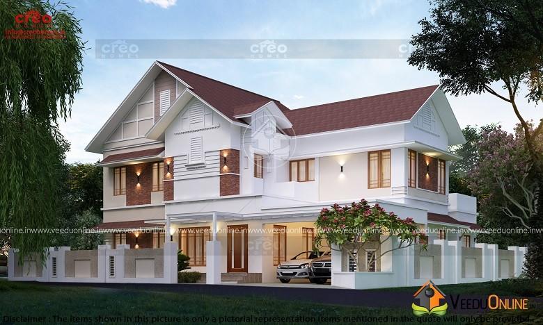 3945 Square Feet Double Floor Contemporary Home Design