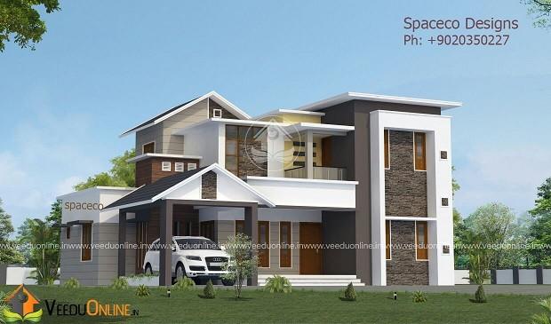 2900 Square Feet Double Floor Contemporary Home Design