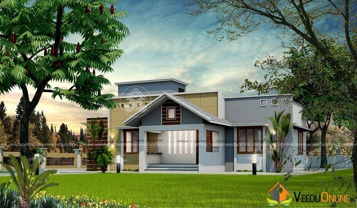 1050 Square Feet Single Floor Contemporary Home Design