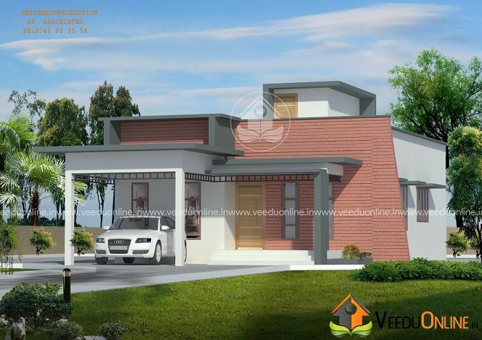 1250 Square Feet Single Floor Contemporary Home Designs