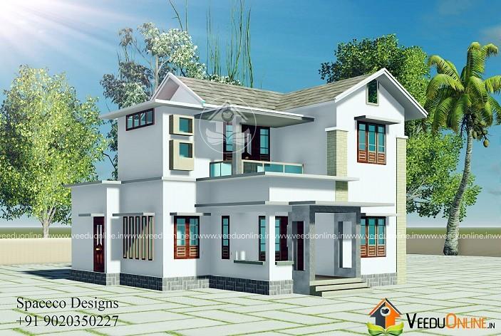 2242 Square Feet Double Floor Contemporary Home Design