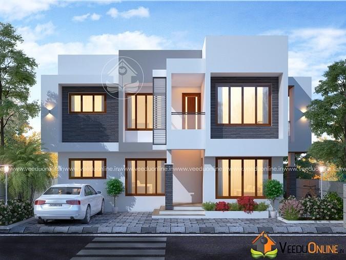 2288 Square Feet Double Floor Contemporary Home Design