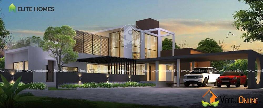 3000 Square Feet Double Floor GFRG Modern Home Design