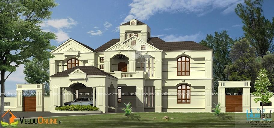 6200 Square Feet Double Floor Contemporary Home Design