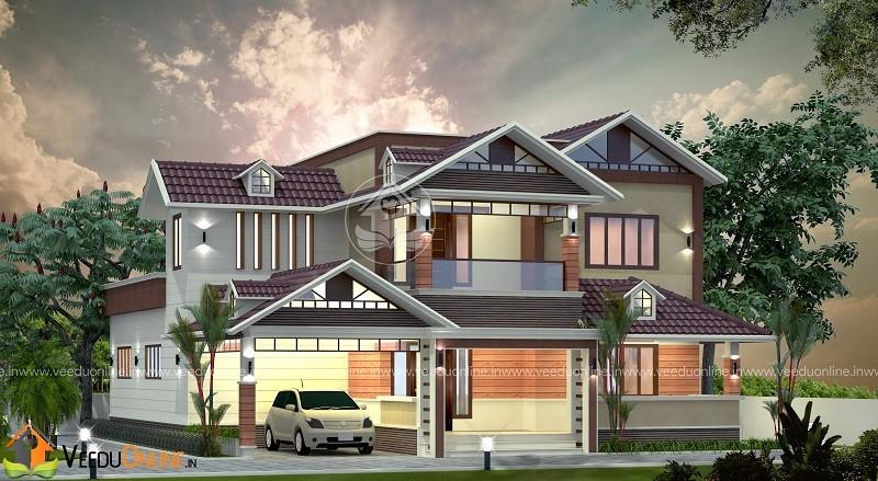 2570 Square Feet Double Floor Contemporary Home Design