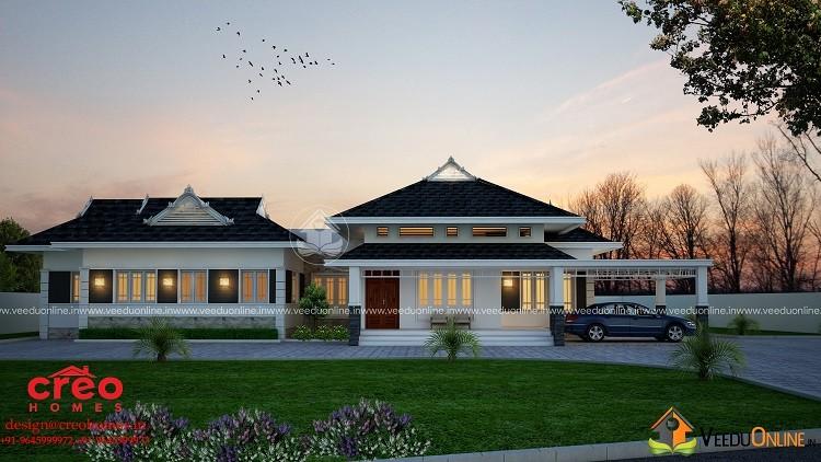 2103 Square Feet Single Floor Contemporary Home Design