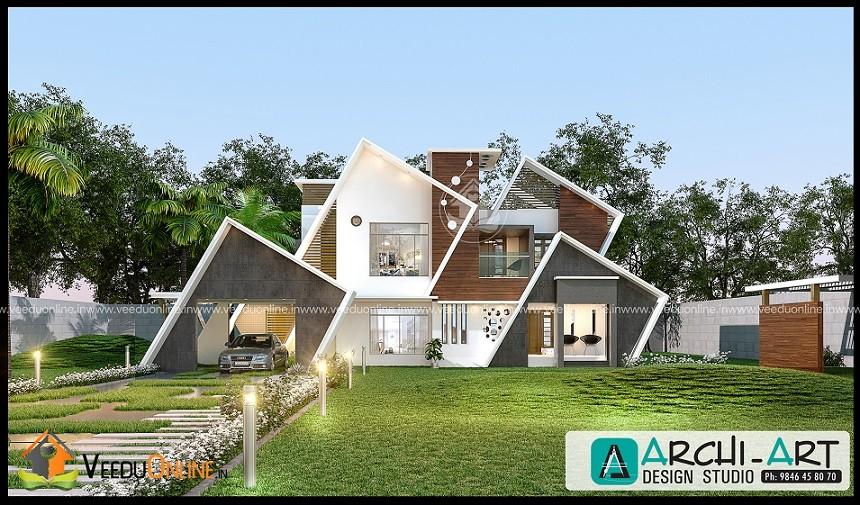 2387 Square Feet Double Floor Contemporary Home Design