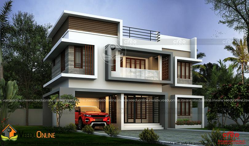 2582 Square Feet Double Floor Contemporary Home Design
