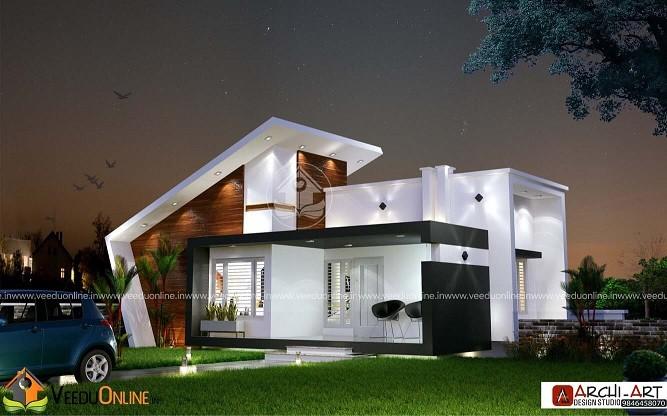 1242 Square Feet Single Floor Contemporary Home Design