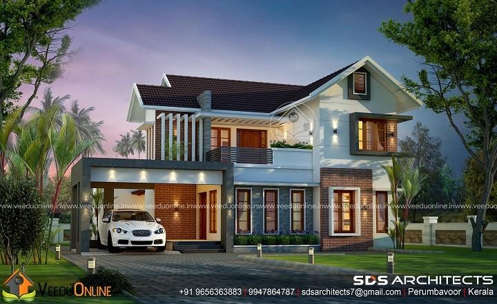 2147 Square Feet Double Floor Contemporary Home Design