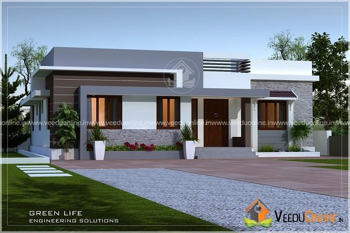 1450 Square Feet Single Floor Contemporary Home Design