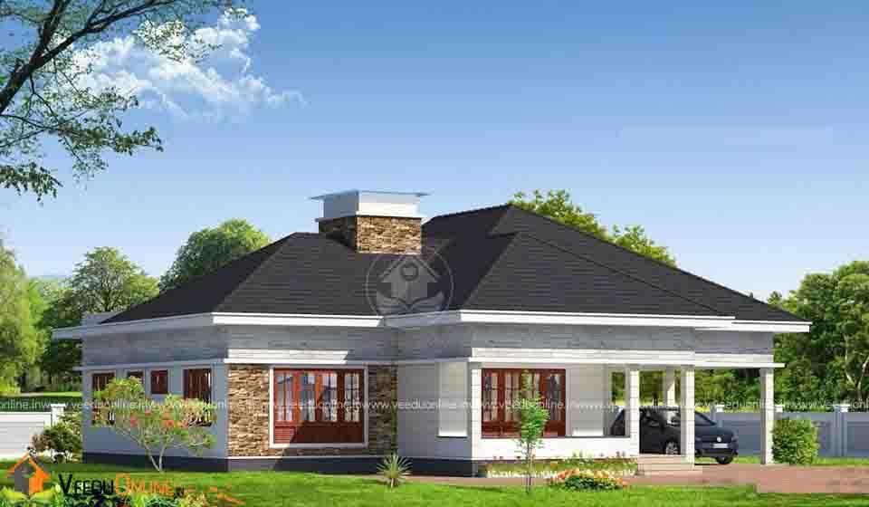 1510 Square Feet Single Floor Contemporary Home Design