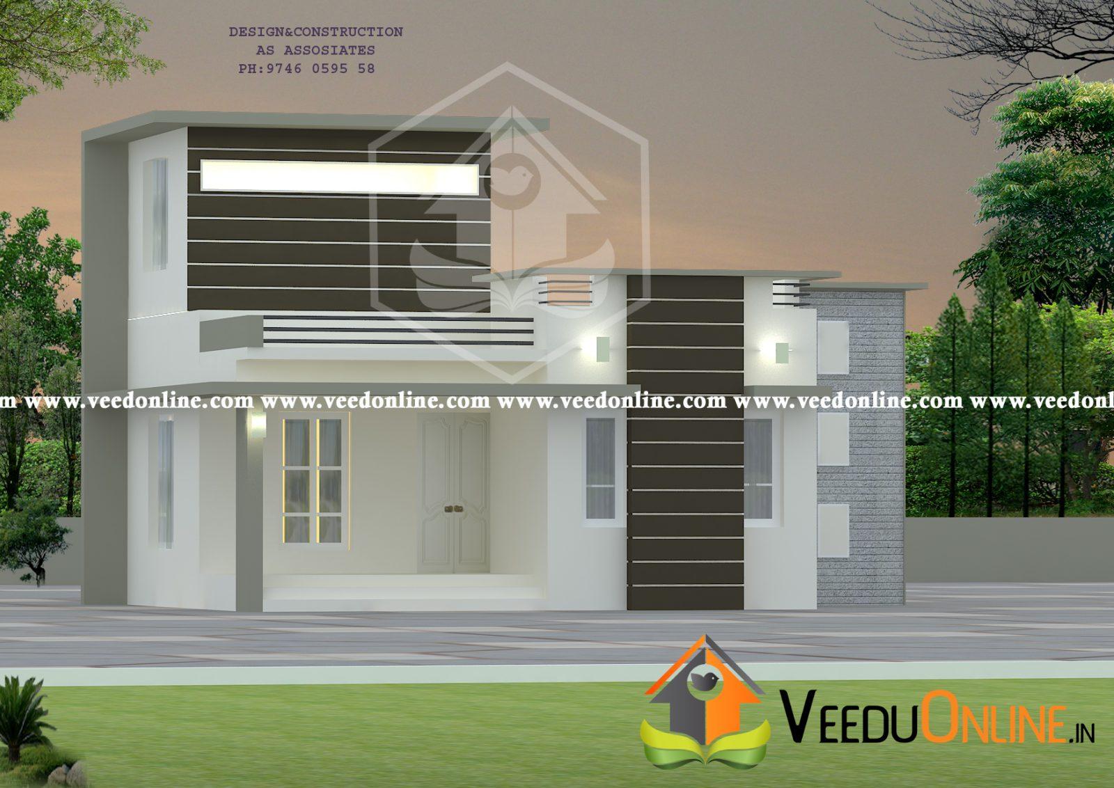 1270 Square Feet Single Floor Contemporary Home Design