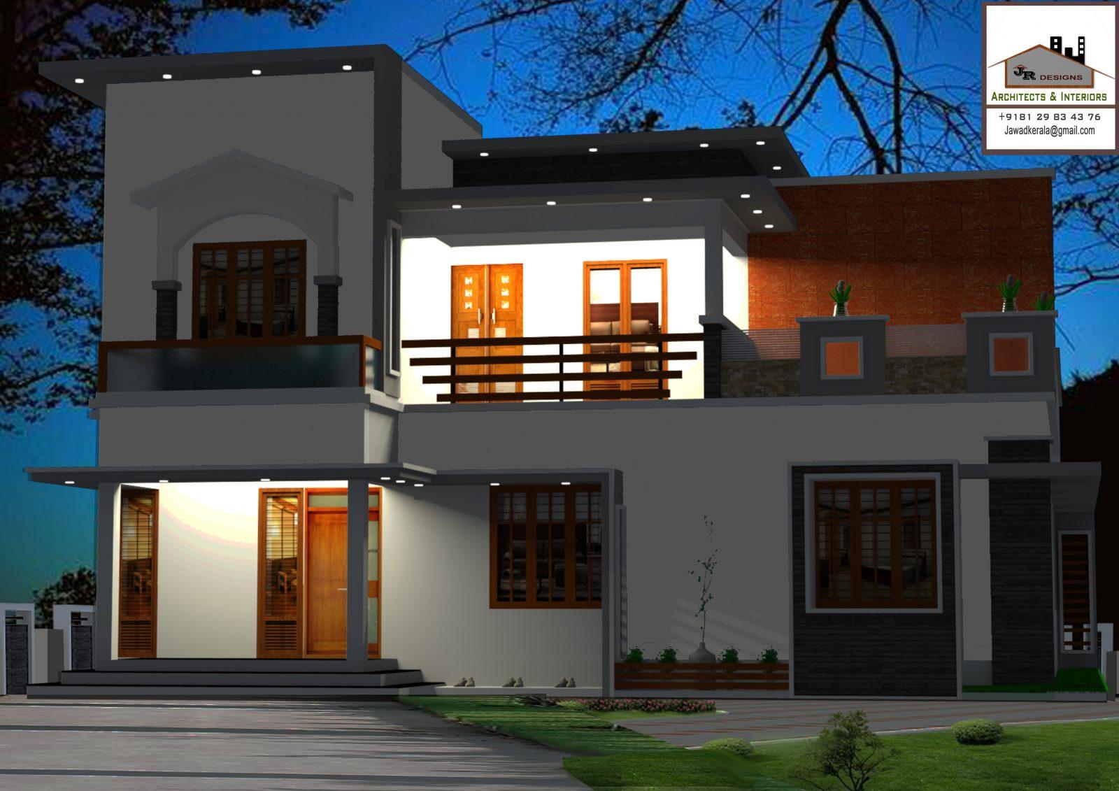 2384 Square Feet Double Floor Contemporary Home Design