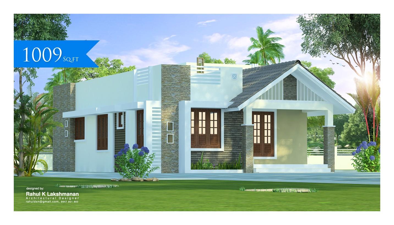 1009 Square Feet Single Floor Contemporary Home Design