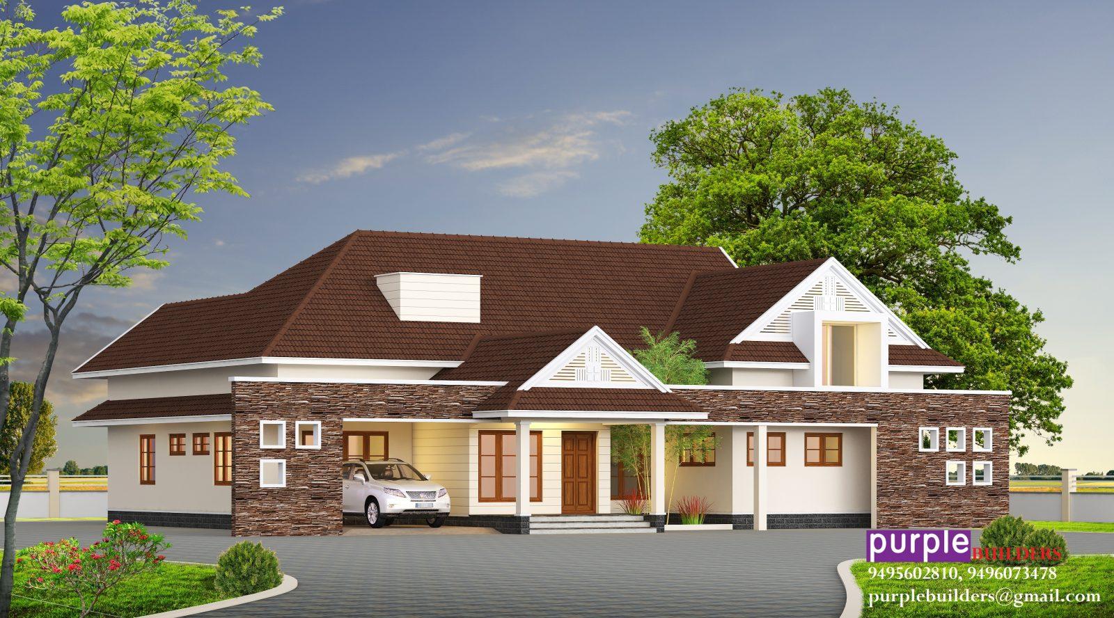 Single Floor Home Design 2560 Square feet