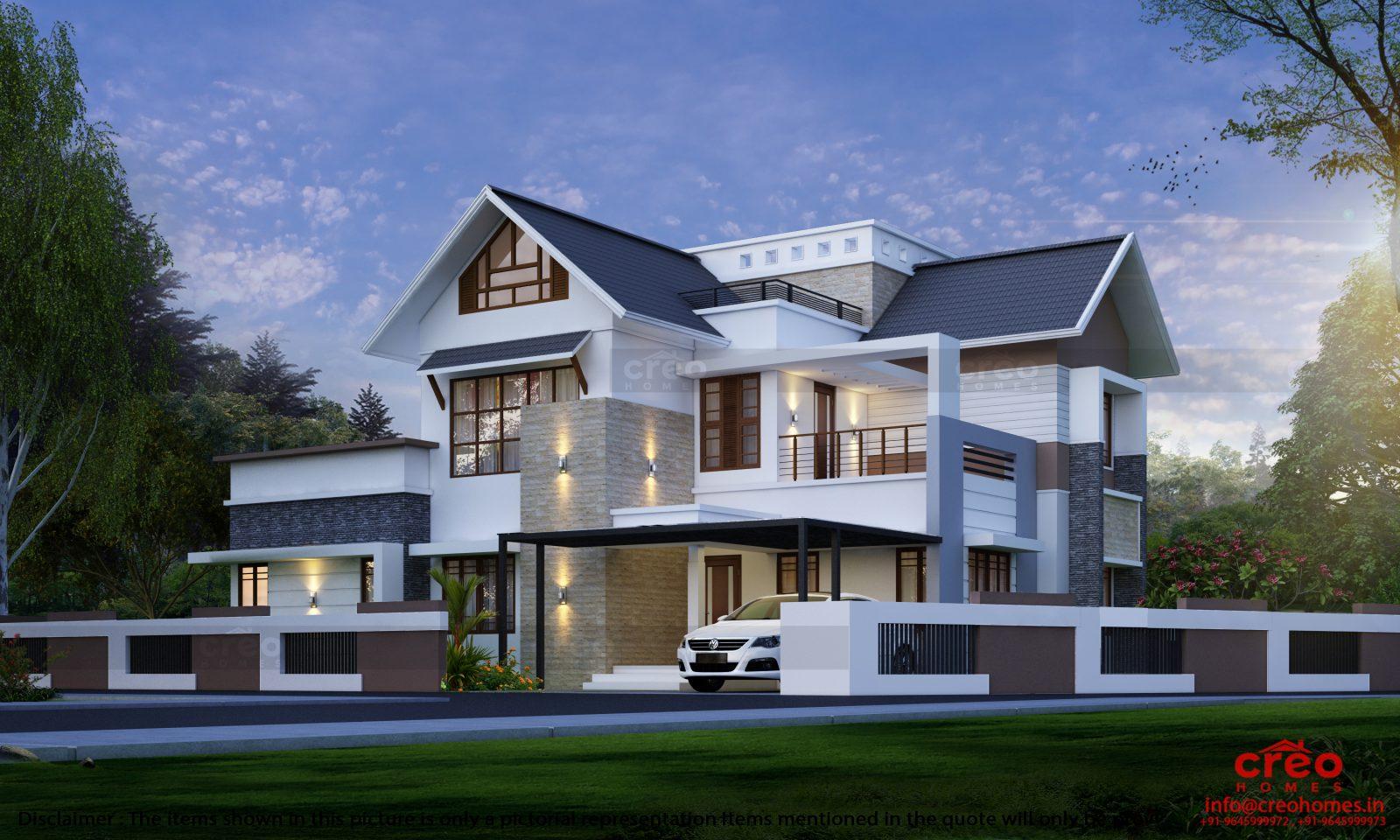 3123 Square Feet Double Floor Home Design
