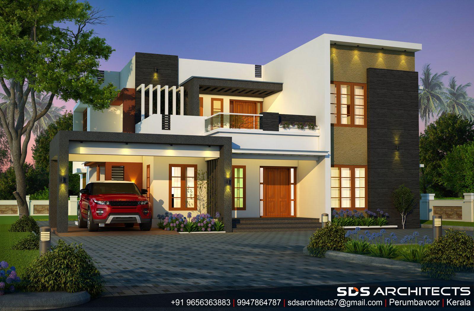 2758 Square Feet Double Floor Contemporary Home Design
