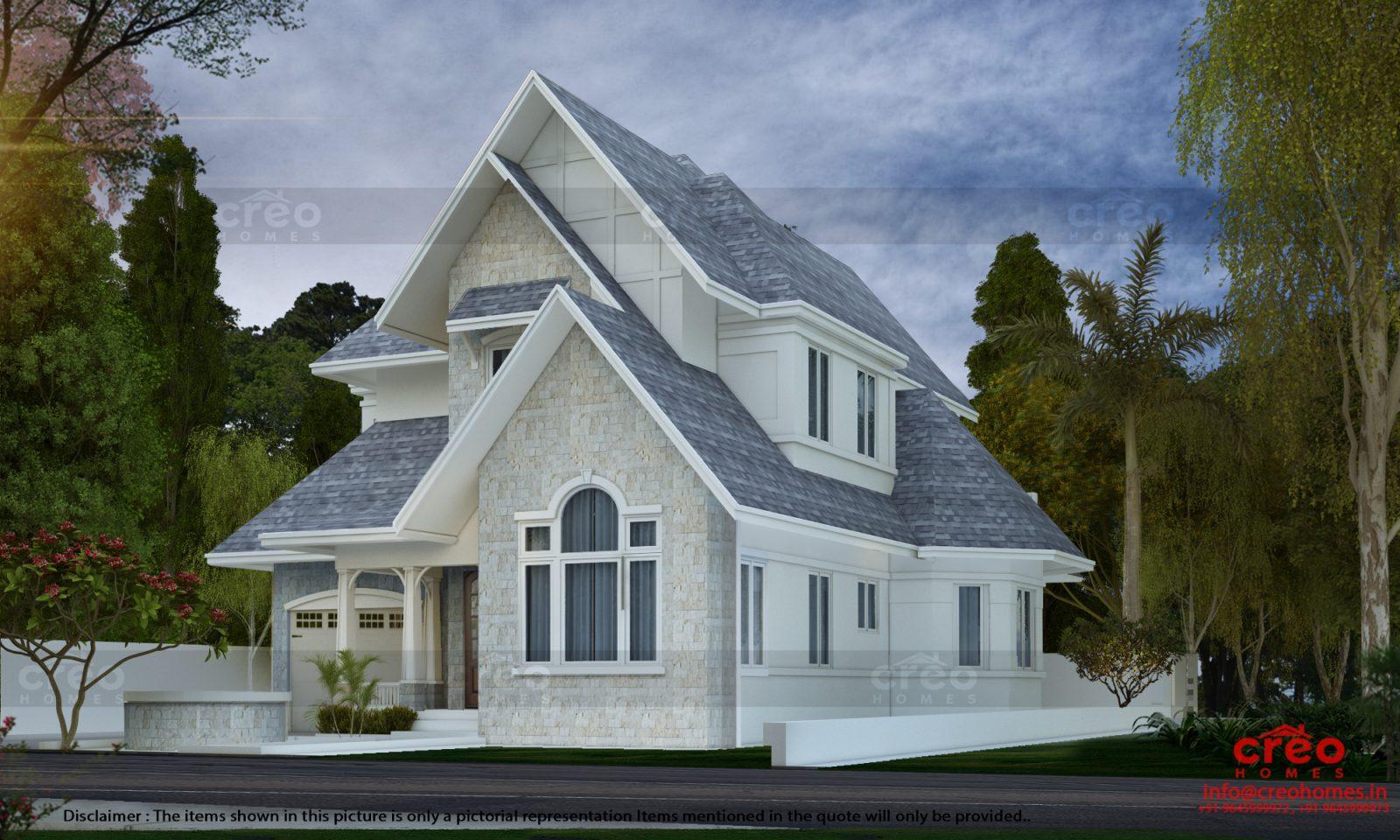 3001 Square Feet Double Floor Home Design