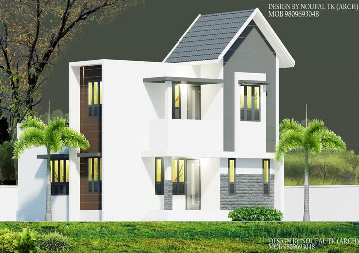 1350 Square Feet Double Floor Home Design