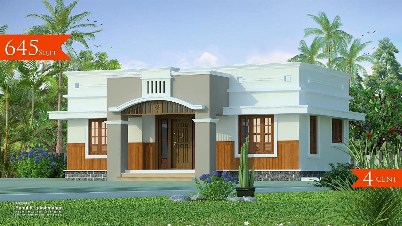 645 Square Feet Single Floor Contemporary Home Design