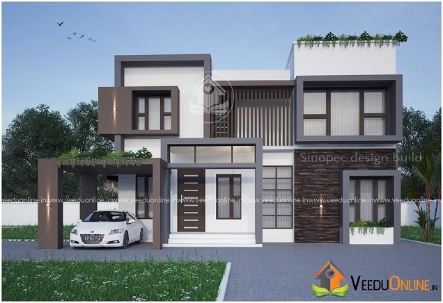 2350 Square Feet Double Floor Contemporary Home Design